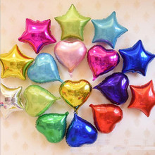 10pcs Heart Foil Balloons 10inch Valentines Day Wedding Engagement Decorations