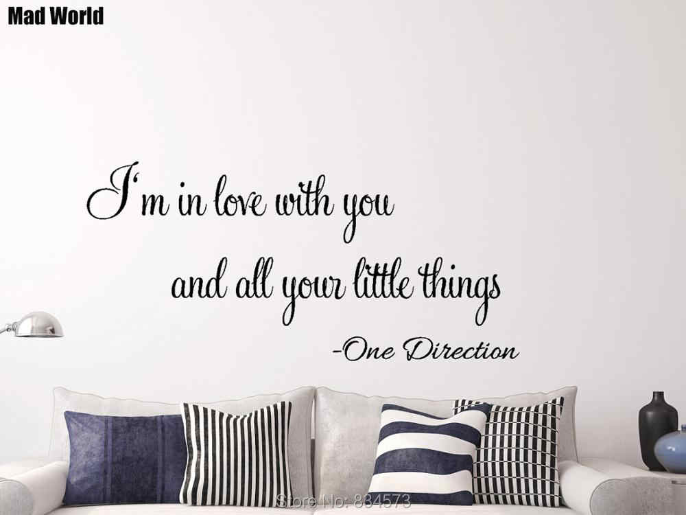 One Direction Little Things Song Lyric Wall Art Stickers