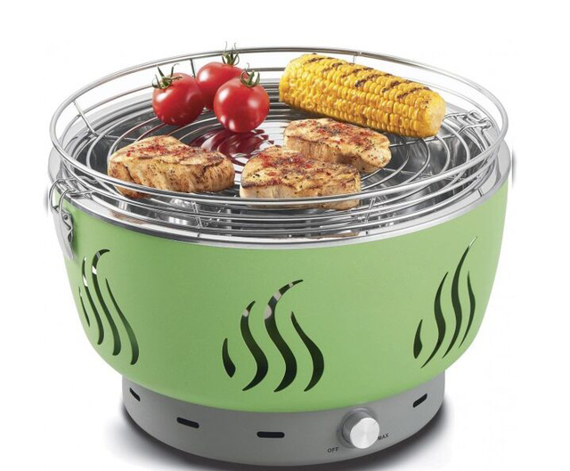 Free Shipping Portable Charcoal Grills Smokeless BBQ Lotus Grill Tabletop  SS Charcoal Grill For Family Camping
