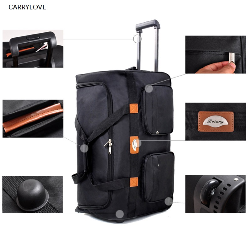 CARRYLOVE high quality Oxford waterproof trolley bag 32 inch large abroad travel luggage air carrier package foldingCARRYLOVE high quality Oxford waterproof trolley bag 32 inch large abroad travel luggage air carrier package folding