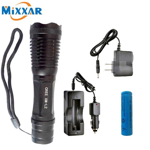 ZK5 CREE XM-L2 t6 4500 люмен СВЕТОДИОДНЫЙ Фонарик факел 5 режима регулируемый водонепроницаемый лампы Факел с перезаряжаемые Батареи 18650
