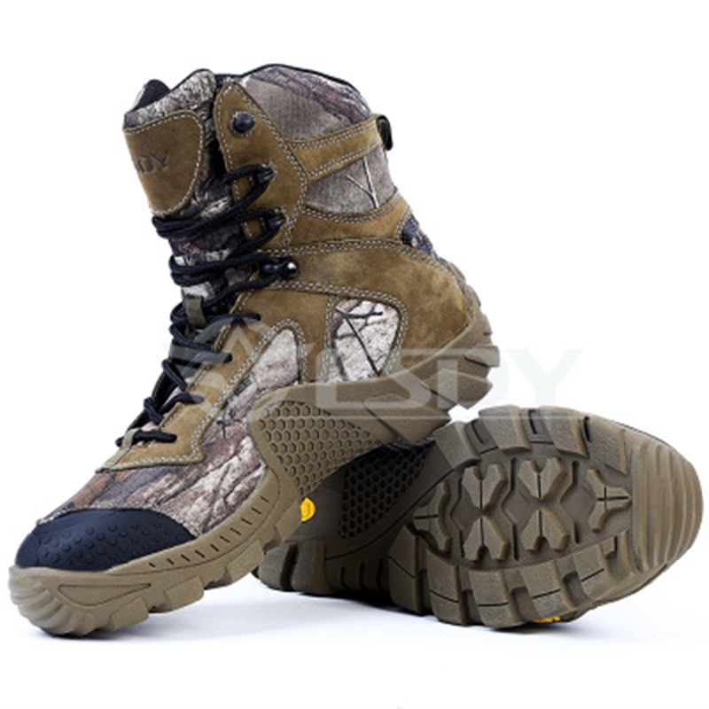 Winter Outdoor Military Tactical Hiking Boots Sport Shoes hunting fishing Shoes for Men SWAT Combat Boots Sneakers Camouflage