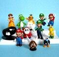 "12 шт. Super Mario Bros 1.5 ""-2.5"" Марио Цифры Набор Игрушек TG0081"