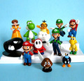 "12 unids Super Mario Bros 1.5 ""-2.5"" Mario Figuras Set Toy TG0081"