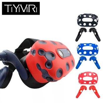 HTC Vive Pro Kulaklık VR silikon kutu örtüsü VR Kulaklık kaymaz Kablosuz Kontrol Gamepad silikon kutu örtüsü
