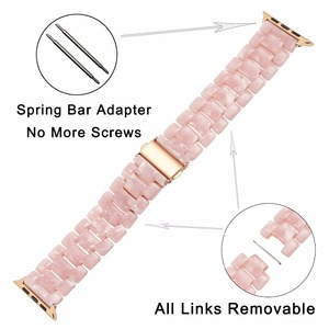 Image 3 - Trumirr Immitation Ceramic Watchband for iWatch Apple Watch SE 38mm 40mm 42mm 44mm Series 1 2 3 4 5 6 Resin Band Wrist Strap