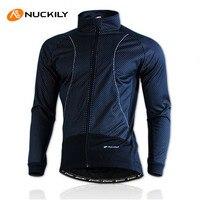 NUCKILY Winter Bike Clothing Rainproof Fleece Coat Thermal Bicycle Windproof Ropa Ciclismo Jacket Bicycle Cycling Jacket Men