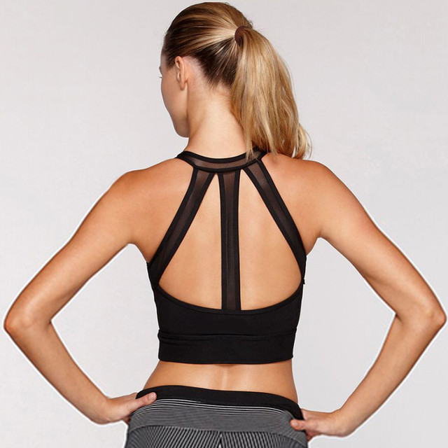 0c61064144 Shock Absorber Push Up Padded Woman Fitness Workout High Impact Yoga  Running Sports Bra Top Crop