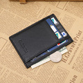 Ultrathin Genuine Leather Card Holder Black Brown Quality Soft Business Fashion ID Credit Cards Holders For Men Free Shipping