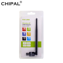 CHIPAL 150Mbps Mini USB WiFi Adapter Externe Drahtlose Netzwerk Karte Antenne PC LAN Ethernet Wi-Fi Receiver Dongle 802,11 n/g/b