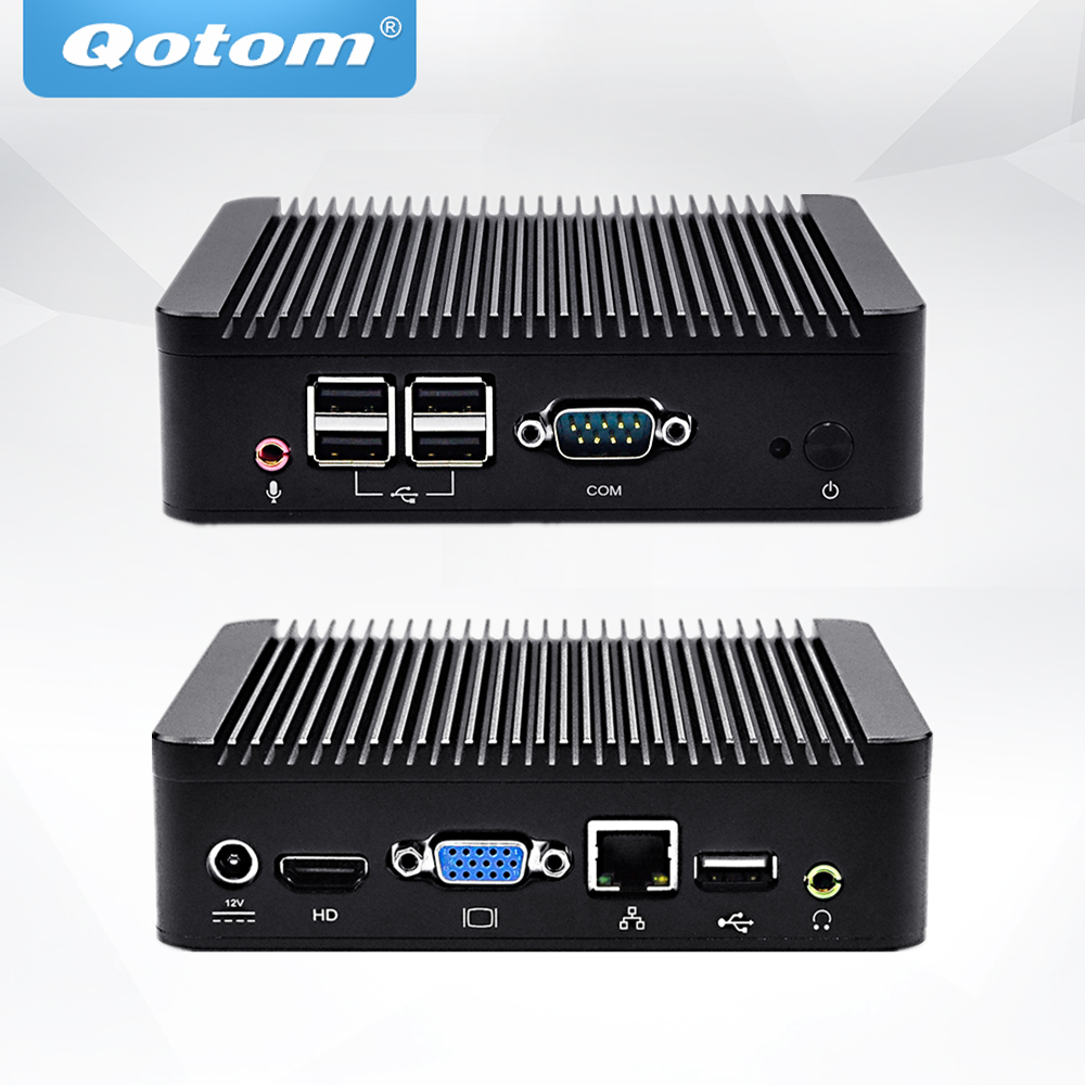 QOTOM Mini PC Q107N Celeron 1007U Processor Dual core 1.5 GHz, Cheap Mini PC Win XP/ 7/8/10 dc 12v desktop pc win 7 win 8 win 10 linux kingdel mini industrial pc with celeron 1037u processor x86 mini pc dual lan