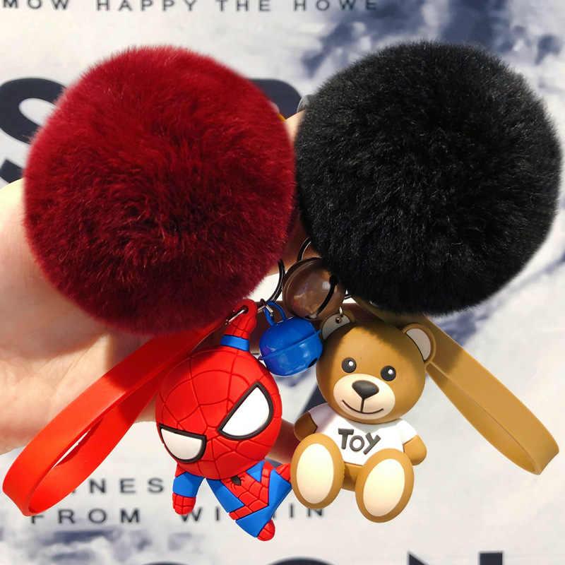 ใหม่แฟชั่นภาพยนตร์ Spider Man พวงกุญแจ Hero Homecoming Car Key แหวนจี้ Spiderman พวงกุญแจของเล่นผู้หญิงผู้ชาย JewelryTrinket