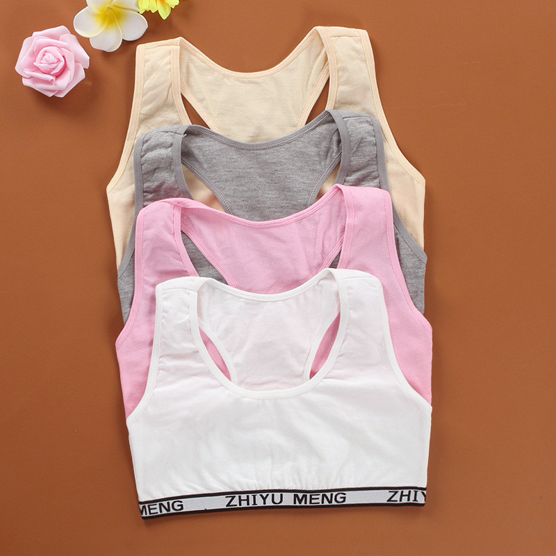 Summer Thin Girl Training Linen Soft Brassiere Sport Girl Bras For Teen Girls Rabbit Children Topic For Teenagers Vest