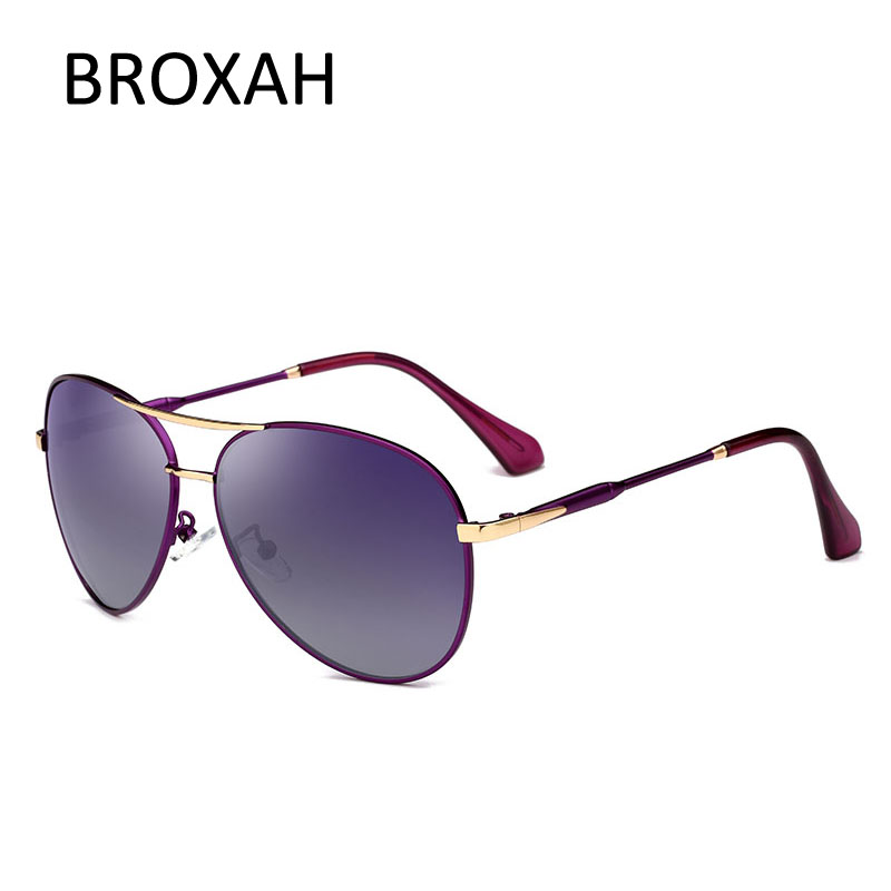 Fashion Pilot Sunglasses Women Polarized Metal Driving Glasses Brand Designer Men Shades UV400 Eyewear lunette De Soleil