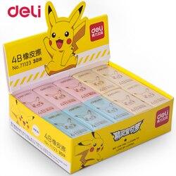 Deli Pokemon Pikachu Prüfung Kunst Zeichnung Radiergummi Tricolor kawaii radiergummi für kinder gummi schule bleistift radiergummi schreibwaren