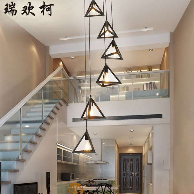 Amazing Staircase Lamp Lighting 2017 Simple American Stair Lamp Modern Rotary  Staircase Pendant Light Double Building FG37