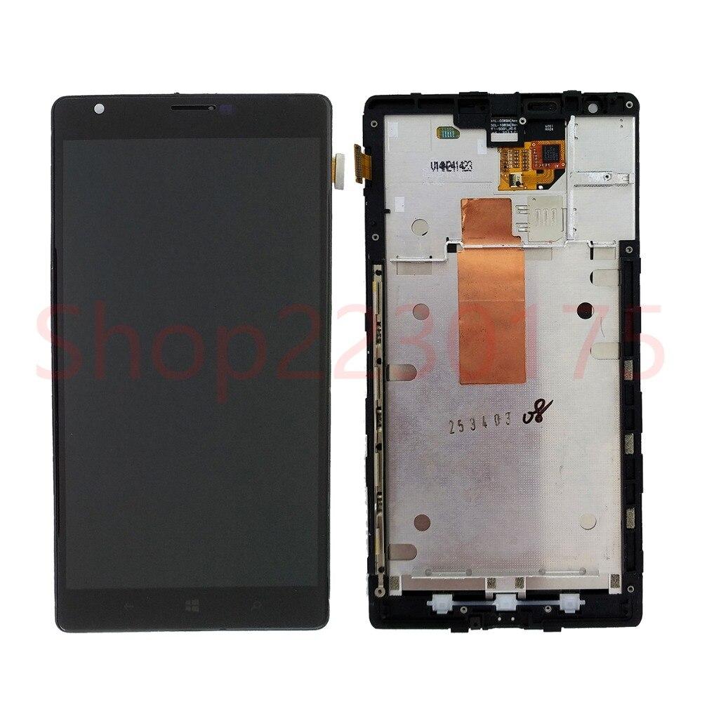 Pour Nokia Lumia 1520 RM-937 RM-940 LCD Affichage à L'écran Tactile Digitizer Assemblée Cadre Pièces De Rechange