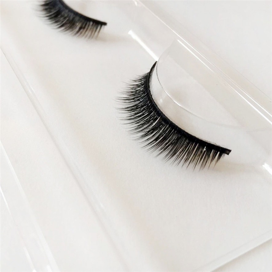 2017 1Pairs Real Mink Natural Long False Eyelashes Makeup Fake Thick Black Eye Lashes Extention Tools Pestanas falsas