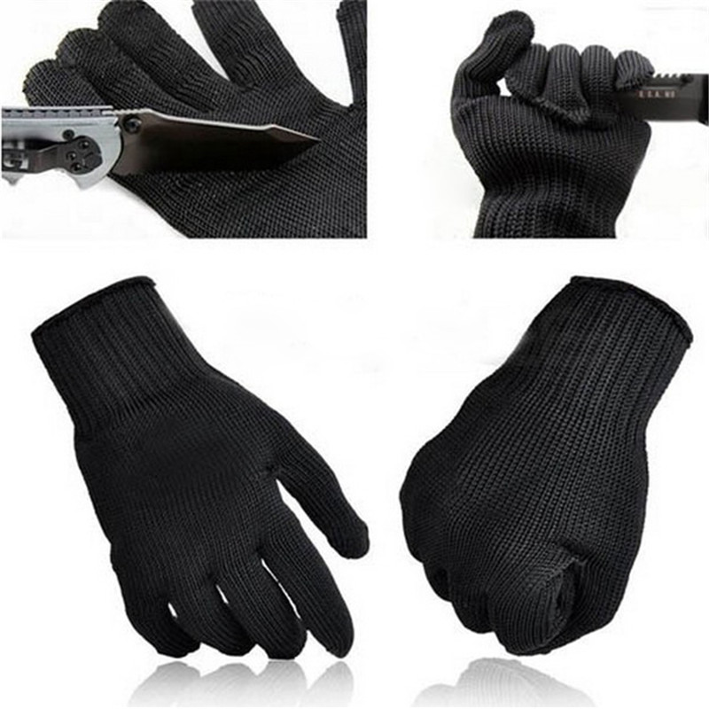 NEW Stainless Steel Wire Safety Work Anti-Slash Cut Static Resistance Wear-resisting Protect Gloves Hand Safely Security Black double quilt cover set eponj home double quilt cover set