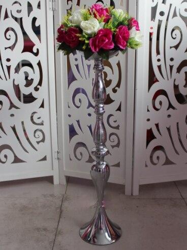 Výška 70cm Svatební sváteční stůl svícen T silniční olovo stříbrný svatební silniční olověný sloup