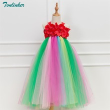 Tonlinker Fancy Baby Girl Tutu Dress Christmas Halloween Costume Girls Party Dresses Princess Ball Gown Boutique New