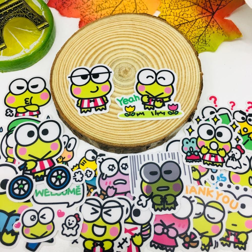 40 Pcs/lot Anime Cute Frog Scrapbooking Stickers  Car Case Waterproof  Laptop Bicycle Notebook Backpack  Waterproof Sticker
