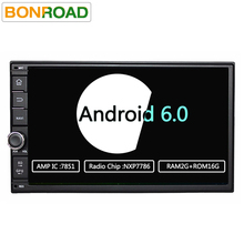 "7 ""2Din 1024*600 Android 6.0 Ram 2G Coche Del Grifo PC Tablet 2 din Universal Para Nissan Navegación GPS Radio Stereo Audio Player (Sin DVD)"