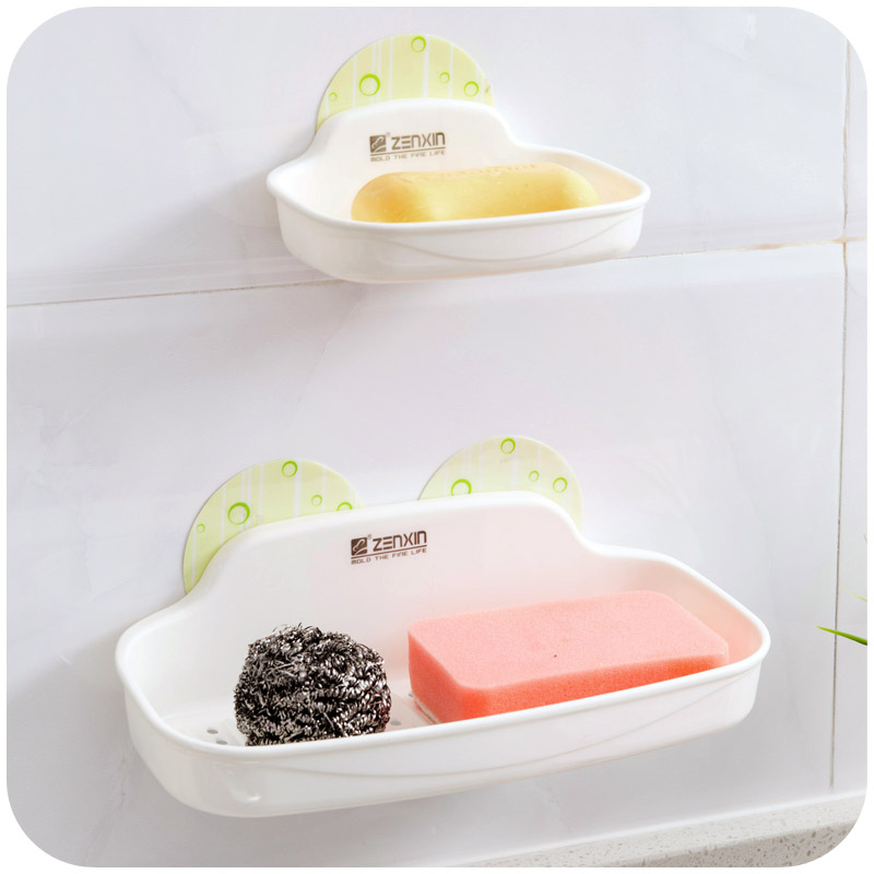 Seamless electrostatic stickers soap holder soap box, bath soap holder suction wall shelving