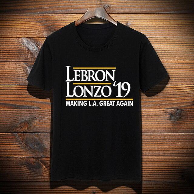 bfc5b23db33 New Custom Made LeBron shirt LeBron Lonzo Make Los Angeles Great Again  tshirt LeBron James LA Lakers Graphic T-Shirt Top Tees