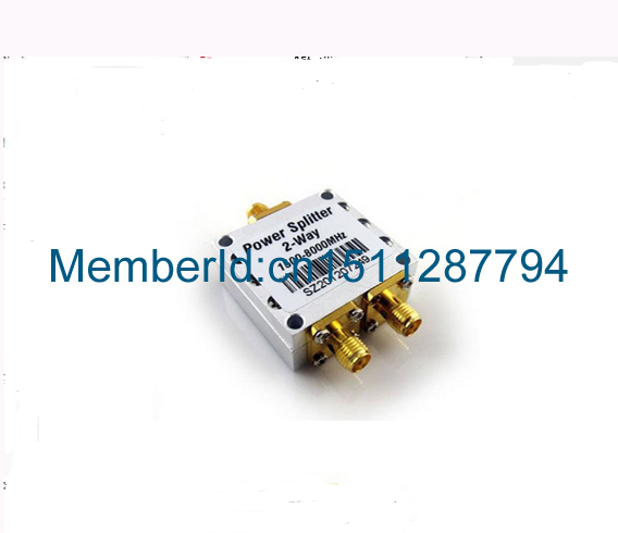 High Frequency 1.5-8Ghz Power Divider 1pcs/1500~8000Mhz  2 Way RF Power Splitter Combiner w/ SMA Female Connector rp sma female to y type 2x ip 9 ms156 male splitter combiner cable pigtail rg316 one sma point 2 ms156 connector for lte yota