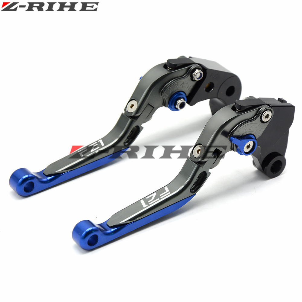 For FZ1 LOGO Motorcycle CNC Pivot Brake Clutch Levers Adjustable foldable Levers For YAMAHA FZ1 FAZER 2001 2002 2003 2004 2005 for yamaha yz80 yz85 kawasaki kdx200 kdx220 suzuki rm85 rm125 rm250 drz125l cnc dirttbike pivot brake clutch levers blue
