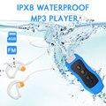 Водонепроницаемый MP3-плеер для плавания IPX8, радио с зажимом для наушников для дайвинга, занятий спортом на открытом воздухе, музыкальный пле...