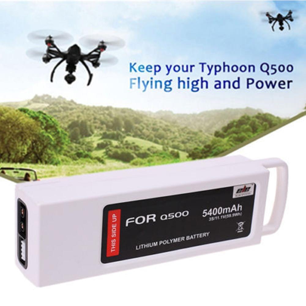 Eleoption High Quality 5400mAh Li-Po 4K 3S 11.1V 3C LiPo Battery for Q500, Q500+ Quadcopter morpilot 2pcs 11 1v 3s 6300mah 4k 10c lipo battery for yuneec typhoon q500 q500 4k high performance with charging protection