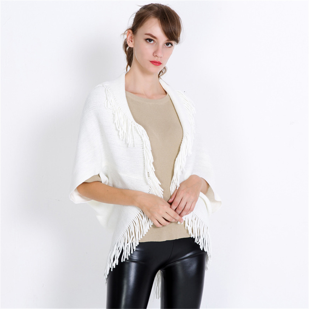 New Sexy winter knitted turtleneck cape shawl female fashion stripes European and American style ladies scarf cloak pullover