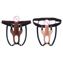Wearable Strap On Dildos with Adjustable Belt Removable Dildo Pants No Vibrator For Women Lesbian Couples