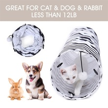 Drop Shipping 130cm Foldable Pet Puppy Cat Tunnel Tubes Play House Funny Animal Kitten Toy Exercise