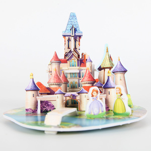 3D DIY Puzzle Jigsaw Baby toy Kids Princess Birthday Party Supplies Gift For Children Castle Puzzle(China)