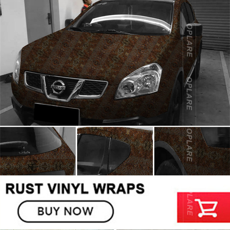 Rust Vinyl Wrap Rust Car Vinyl Film Air Bubble Free Vehicle Wrap Auto Graphics for hatchback Various sizes iron rust vinyl wrap film for car wrap rust style wrapping colored car full body wrap vinyl sticker bomb air bubble free ir 8