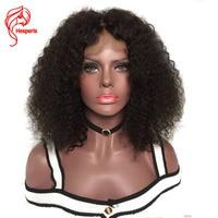 Hesperis афро странный фигурные парики полное кружева парики человеческих волос с ребенком волос бразильского Волосы remy кудрявый локон парики,