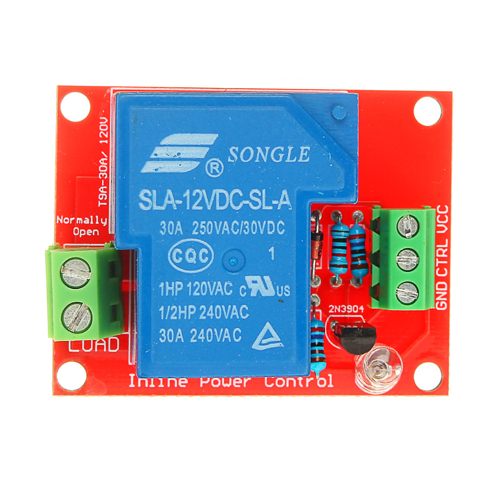 1pc 12V 30A 250V 1 Channel Relay High Level Drive Relay Module Normally Open Type For Auduino