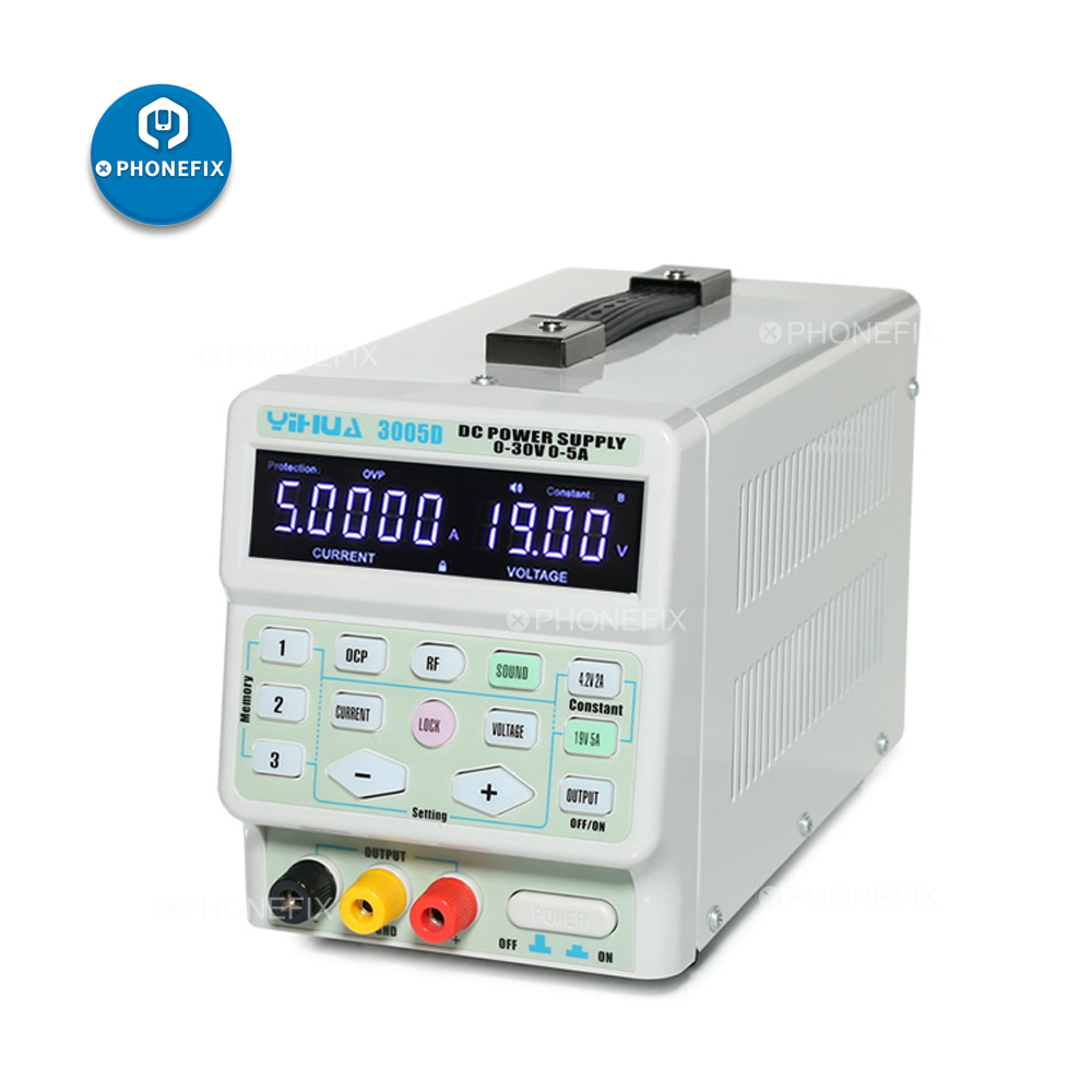 PHONEFIX YIHUA 3005D 30V 5A Adjustable Digital Display DC Power Supply 220V 110V Power Supply For