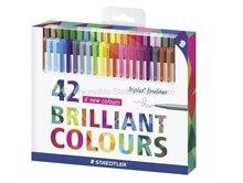 STAEDTLER 334 C42 Colored Art Marker Pens Painting Pen Stationery School Office Supplies 0.3mm Fine Line Marker Pen 42 Colors