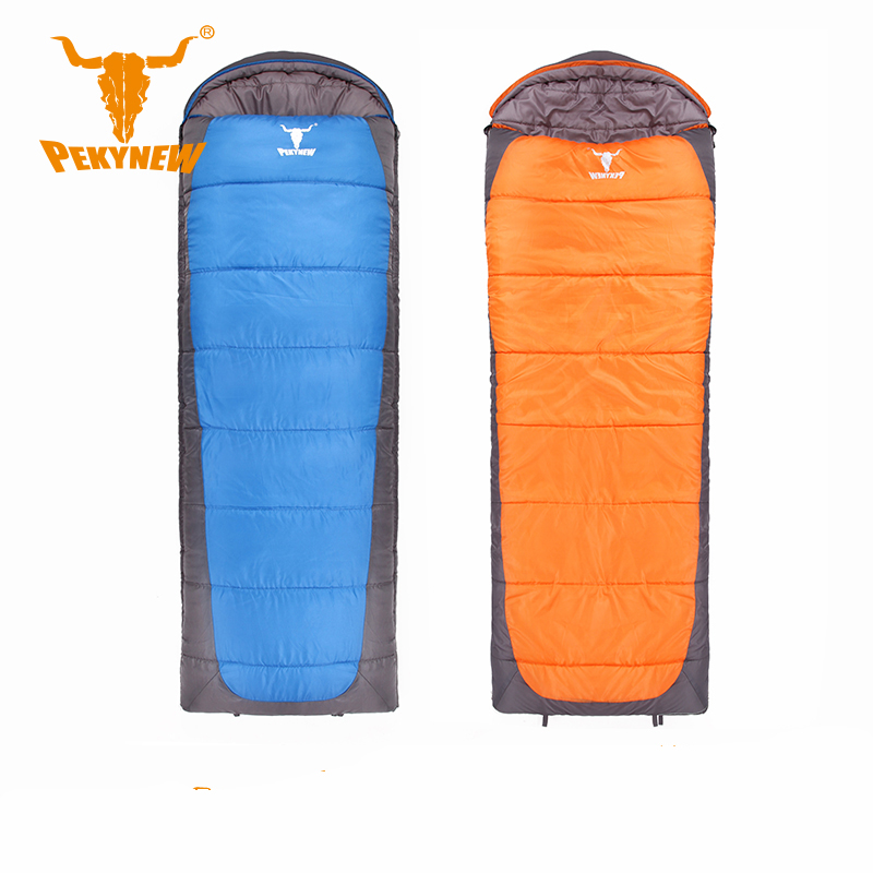 ФОТО PKN-B2004 lengthened and widened envelope-style sleeping bag Sleeping outdoor Camping Sport Adult Envelope Type Cotton  Single