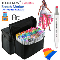 TOUCHNEW 36 48 72 168 Colors Art Marker Alcohol Markers Manga Colored Pen Set Artist Brush