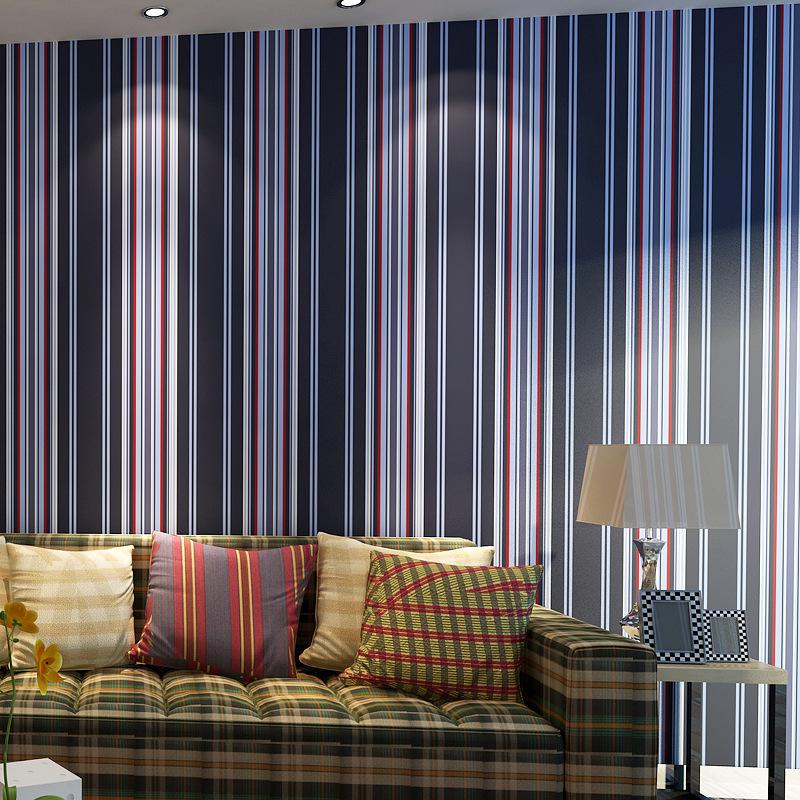 Beibehang Moderne Dunkelblau Feinen Gestreifte Tapete Schlafzimmer Wohnzimmer Kinder Prinzessin Zimmer Englisch Wind Grn 3d Wallpaper