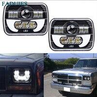 2PSC 5x7 Auto DRL Led Headlamp 5x7 Inch Led Truck Headlight 6x7 High Low Beam Square