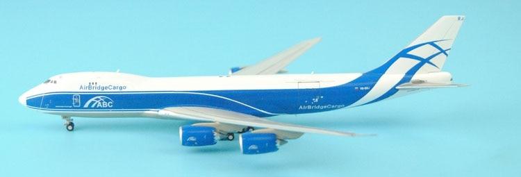new GeminiJets 1: 400 GJABW1554 AIR BRIDGE CARGO B747-8F VQ-BRJ Alloy aircraft model Collection model Holiday gifts 1 500 ana 747 400 ana aircraft model ja8960 hogan
