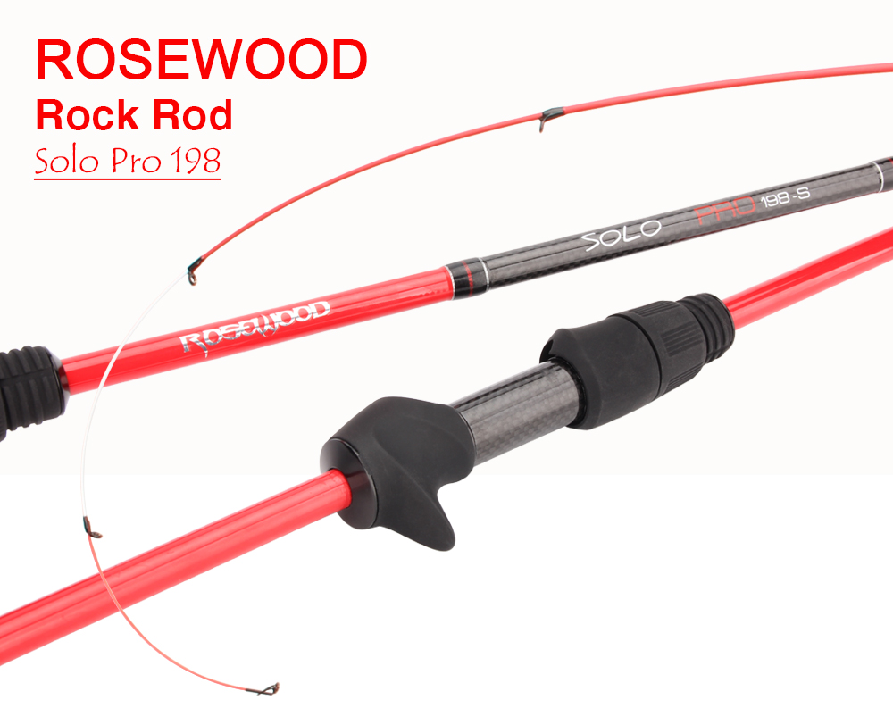 RoseWood Ultra Light, Solid Tip Rod 30T Carbon Casting Spin Fishing Rod 1.98m Fast Light Saltwater Squid Pike Fishing Pole   (1)