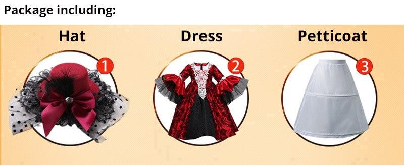Renaissance Medieval Gothic Vampire Kostüme Cosplay Halloween Ball Modell Landebahn Kostüm Palace Kleid Hut Petticoat Vollen Satz - 6