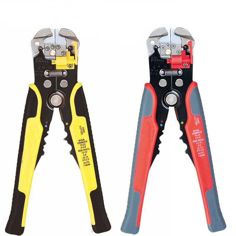 цены Multi-function TK1055 Automatic stripping pliers Carbon Steel Material Wire Stripping Pliers Line Pressing Pliers